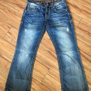 Rock Revival / James Boot Distressed Jeans